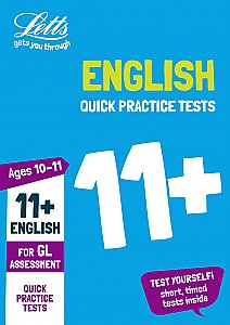 Letts - 11+ English Quick Practice Tests Age 10-11 For The Gl Assessment Tests