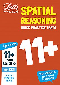 Letts - 11+ Spatial Reasoning Quick Practice Tests Age 9-10 For The Cem Tests