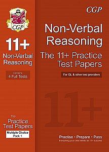 CGP 11+ Non-Verbal Reasoning Practice Test Papers: Multiple Choice - Pack 1