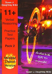 Bright Sparks 11 Plus Verbal Reasoning Multiple Choice Practice Test Paper Pack 2 By Susan Daughtrey