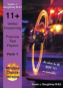 Bright Sparks 11 Plus Verbal Reasoning Multiple Choice Practice Test Paper Pack 1 By Susan Daughtrey