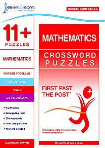 11+ Puzzles - Mathematics Crossword Puzzles Book 2 (First Past the Post®)