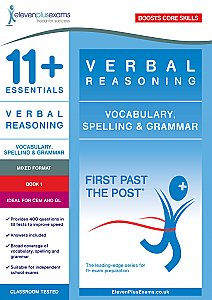 11+ Essentials - Verbal Reasoning: Grammar & Spelling  Book 1 (First Past the Post®)