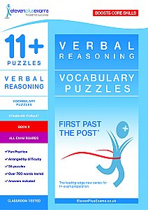 11+ Essentials - Verbal Reasoning: Vocabulary Puzzles  Book 2 (First Past the Post®)