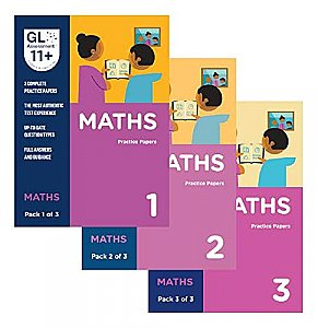 GL Assessment 11+ Practice Papers Bundle of Maths (3 packs)